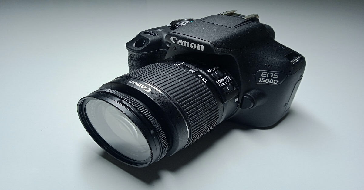 Canon EOS 1500D 24.1 | Digital SLR Camera (Black) | with EF S18-55 is II Lens